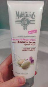 Après-shampooing Douceur et réparation au lait d'amande douce & graine de lin