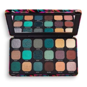 Makeup Revolution Forever Flawless Chilled with cannabis sativa Eyeshadow Palette