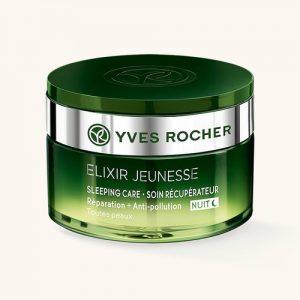 Elixir Jeunesse Yves Rocher – Soin Récupérateur Nuit Réparation + Anti-pollution