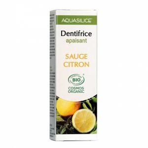 Dentifrice apaisant sauge citron aquasilice