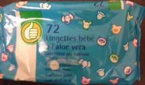 72 lingettes bébé à l'aloe vera