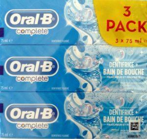 Complete dentifrice + bain de bouche (3 Pack)