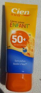 Crème solaire enfant FPS50+