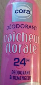Déodorant fraîcheur florale