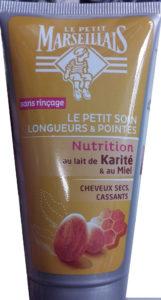 Le petit soin longueurs et pointes nutrition au Lait de karité et au miel