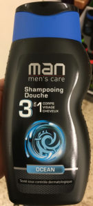 Man men's care Shampooing Douche 3 en 1 Ocean