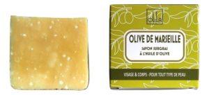 Savon OLIVE DE MARSEILLE (Nature), surgras 6-8%, sans huile de palme sans huile essentielle