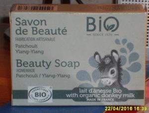 Savon de beauté Patchouli Ylang-ylang Lait d'ânesse bio