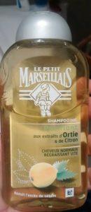 Shampooing purifiant aux extraits d'ortie et de citron