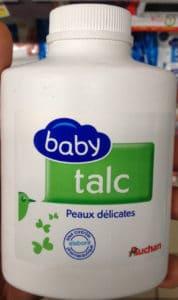 Talc baby peaux délicates