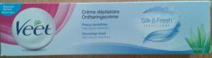 Crème dépilatoire peaux sensibles
