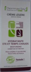 Crème légère hydratante été et temps chauds