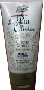 Crème mains hydratante Huile d'olive Peaux sèches et sensibles