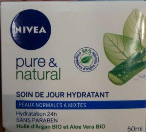 Soin jour hydratant Pure & Natural peaux normales et mixtes